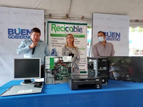 Con campaña de recolección de aparatos electrónicos buscan evitar enfermedades