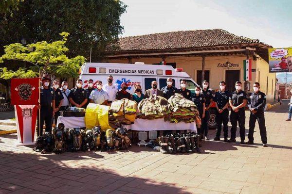 Bomberos y Protección Civil de Tangancícuaro se fortalecen