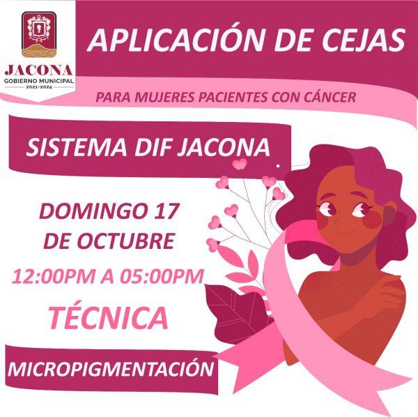 Ayuntamiento de Jacona y Fundación Vive y Ama pondrán cejas a mujeres con cáncer