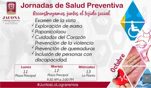 Realizarán Segundas Jornadas de Salud Preventiva en Jacona