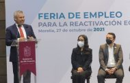 Inaugura Bedolla la Feria del Empleo para la Reactivación Económica